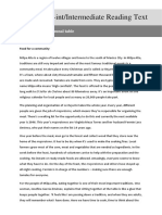 PreInt Intermediate ReadingText