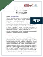 Municipales Para Seguridad Ciudadana PROPUESTAS XX 2015