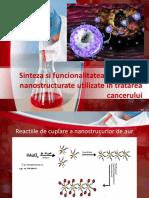 Sinteza Si Funcionalitatea Sistemelor Nanostructurate Utilizate in Tratarea Cancerului