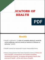 6. Indicators of Health