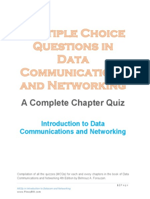 MCQ - 1 pdf | Network Topology | Duplex (Telecommunications)