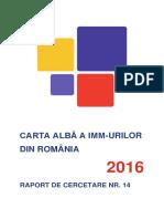 Carta Alba a Imm Urilor Din Romania 2016