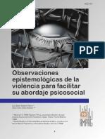 Observaciones epitemológicas de la violencia/ Xavier Sandoval