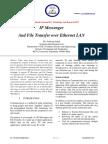 IP Messenger And File Transfer over Ethernet LAN