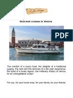 Gourmet Cruises in Venice