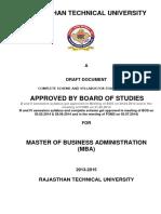 RTU MBA Syllabus