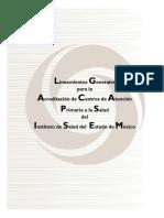 LINEAMIENTOS GENERALES PARA LA ACREDITACION DE CENTROS DE ATENCION PRIMARIA A LA SALUD DEL ISEM.pdf