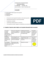 Examen de Español 3 secundaria Bloque 2.0