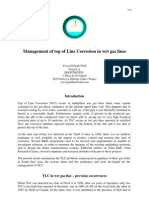 Management of Top of Line Corrosion in Wet Gas Lines