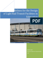 General Guidelines for the Design of LRT Facilities in Edmonton