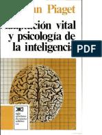 Adaptación Vital y Psicología de La Inteligencia - Piaget