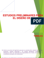 1. Túneles. Estudios preliminares