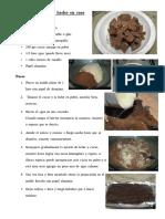 Chocolate Negro Hecho en Casa