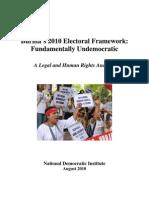 NDI BURMA'S 2010 ELECTORAL FRAMEWORK
