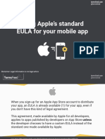 Using Apple's Standard EULA for Your Mobile App