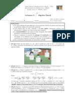 Evaluación Algebra Lineal (con solución)