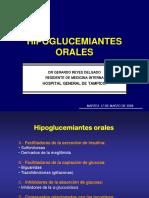 Endocrino - Hipoglucemiantes