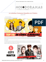 10 Dramas Coreanos Basados en Cómics