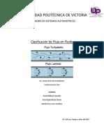 Clasificacion de Flujo en Fluidos