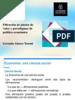 Filtración de Juicios de Valor y Paradigmas de Política Económica