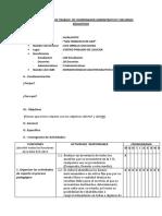 Esquema Del Plan de Trabajo de Coordinador Adminitrativo y Recursos Educativos
