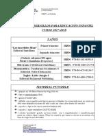 LIBROS y Material (5 Años) 17-18