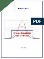 Erros e Incertezas Nas Medições - Paulo Cabral