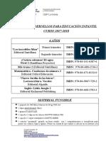 LIBROS y Material (4 Años) 17-18