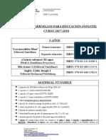 LIBROS y Material (3 Años) 17-18