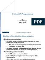 Further MPI Programming 2015