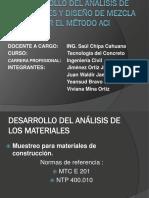 Desarrollo Del Análisis de Materiales y Diseño De