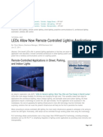 LEDs Allow New Remote-Controlled Lighting Applications