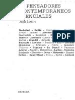 Lechte, J. - 50 Pensadores esenciales contemporaneos.pdf