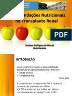 Recomendações nutricionais no transplante renal