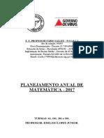 Planejamento Anual - Mat 61, 101, 201 e 301 (Descritores)