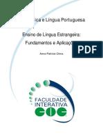 Ensino de Línguas Estrangeiras, Fundamentos e Aplicações - A. P. China