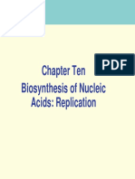 10 Biosynthesis of Nucleic Acids