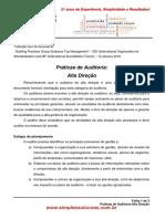 Práticas de Auditoria-Alta Direção