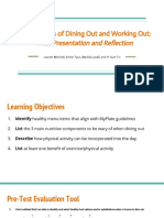 the ins and outs of dining out and working out- final presentation and reflection  1
