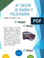 Ley n28278 Radio y Televisión