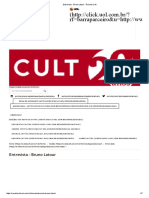 Entrevista - Bruno Latour - Revista Cult