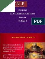 Unidad 2 - Parte 11 - La Sagrada Escritura