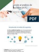 Introducción Al Análisis de Requisitos