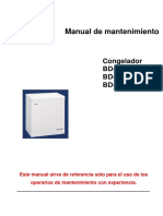 Congelador Manual Servicio Congelador Bd-142h-198-319