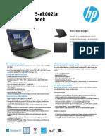 HP Ak002la Descripcion
