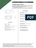keystone formula sheet-algebra i