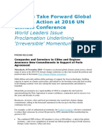 Nations Take Forward Global Climate Action at 2016 UN Climate Conference