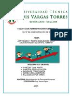 Actividades y Responsabilidades de La Administración de Capital Humano- Grupo #2