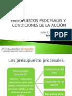 Diapositivas  de presupuestos procesales