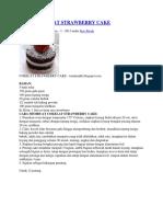 Resep Cokelat Strawberry Cake